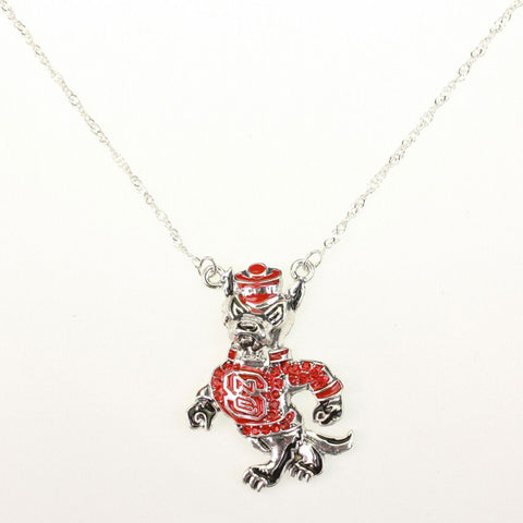 Seasons Jewelry NC State Wolfpack Crystal Necklace
