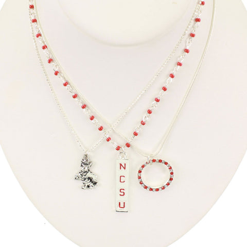 Seasons Jewelry North Carolina State Trio Necklace