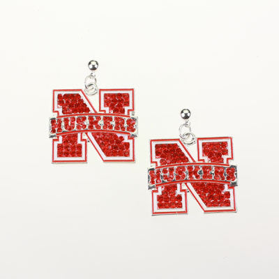 Seasons Jewelry Nebraska Crystal Earrings