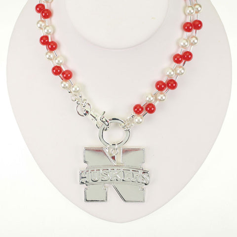 Seasons Jewelry Nebraksa Beaded Logo Necklace