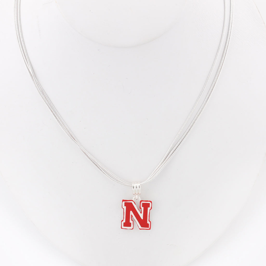 Nebraska Enamel Logo Necklace