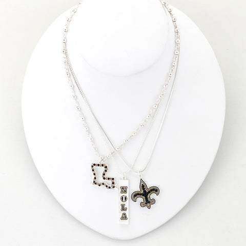 New Orleans Traditions Trio Necklace