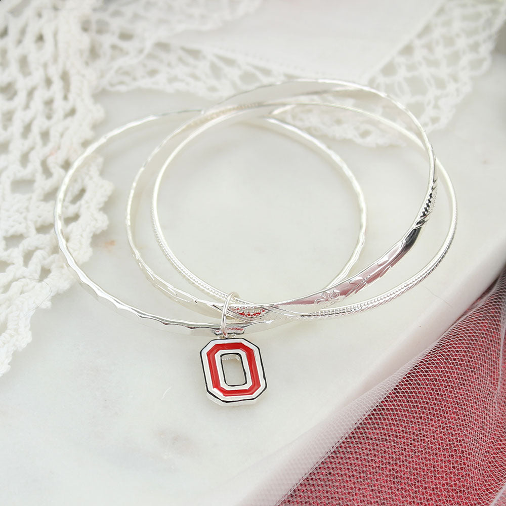 Ohio State Logo Bangle Bracelets