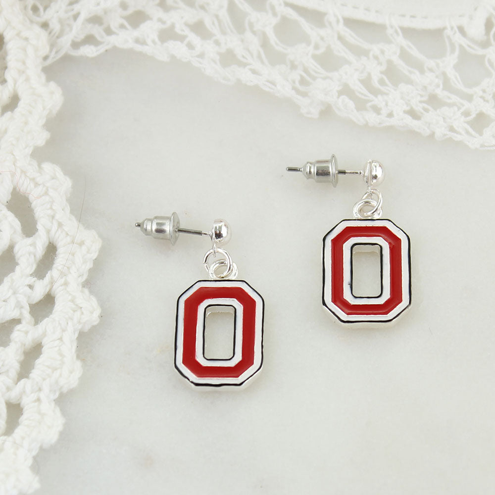 Ohio State Enamel Logo Earrings