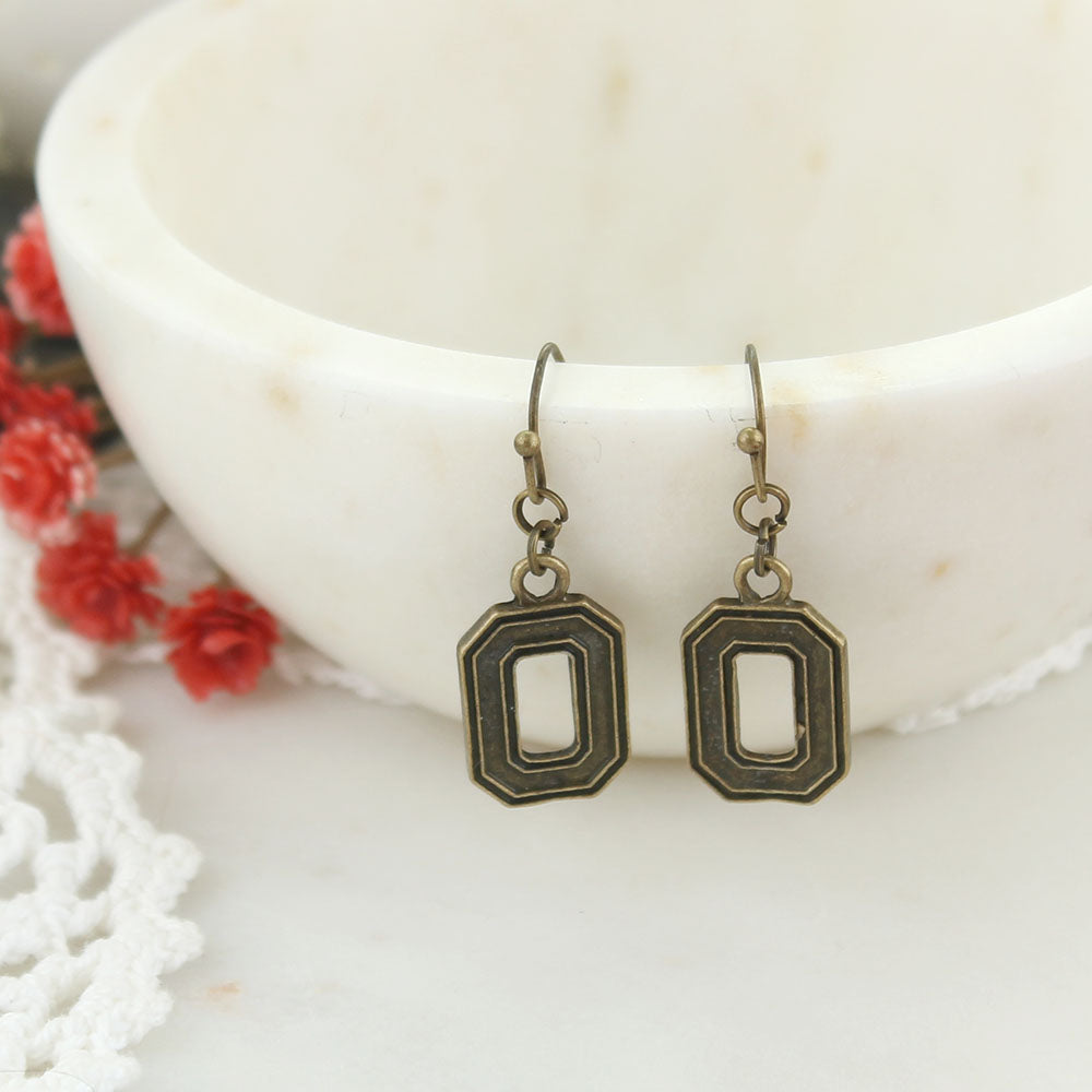 Ohio State Vintage Style Logo Earrings