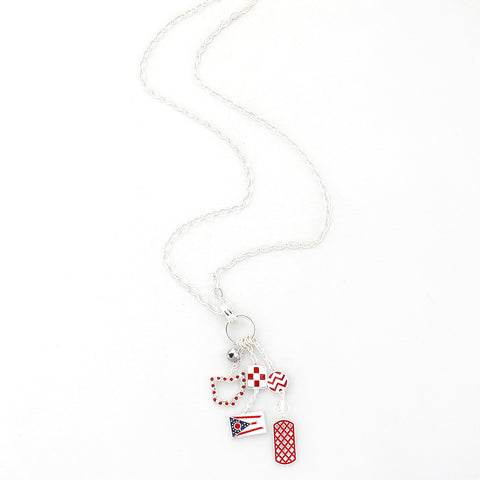 Ohio State Traditions Cluster Necklace