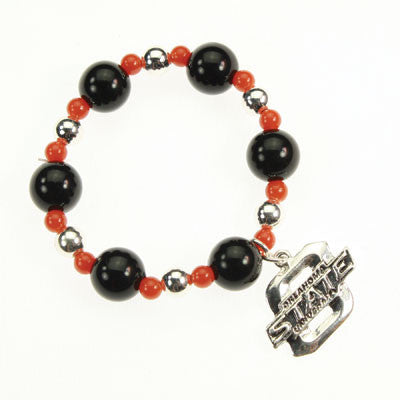 Seasons Jewelry Collegiate Oklahoma State Stretch Bracelet