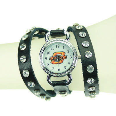 Seasons Jewelry Oklahoma State Logo Wrap Watch