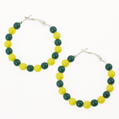 Seasons Jewelry Oregon Beaded Hoop Earrings