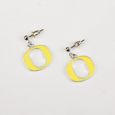 Seasons Jewelry Collegiate Oregon Enamel Logo Earrings