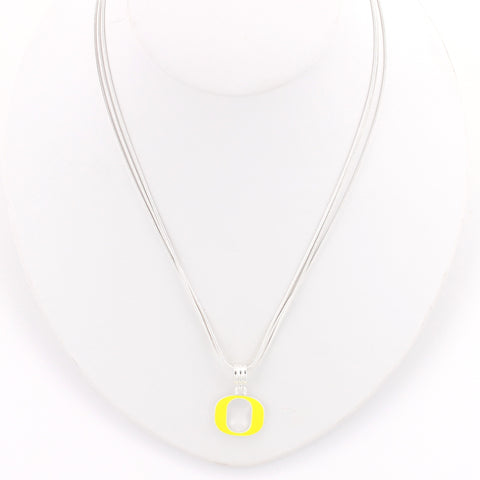 Oregon Enamel Logo Necklace
