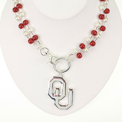 Oklahoma Logo Beaded Necklace