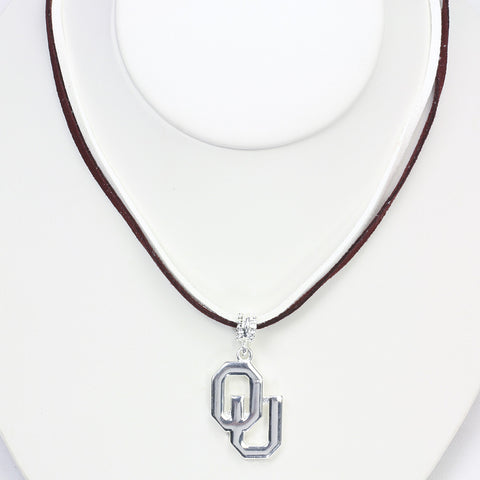 Oklahoma Logo Double Suede Cord Necklace