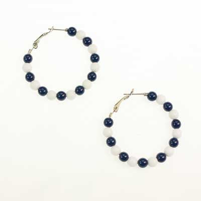 Seasons Jewelry Penn State Beaded Hoop Earrings