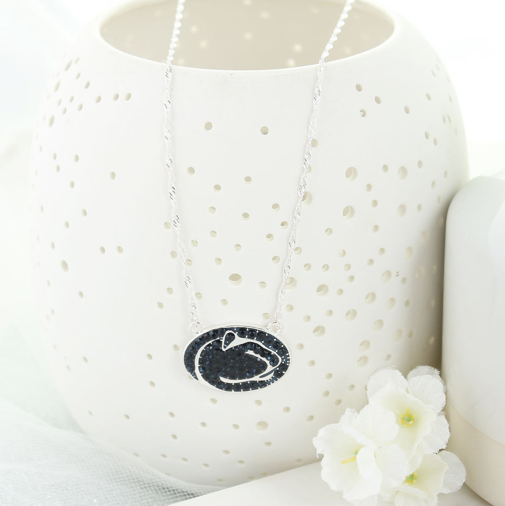 Penn State Crystal Logo Necklace