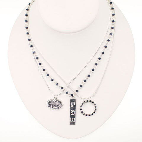 Seasons Jewelry Penn State Trio Necklace