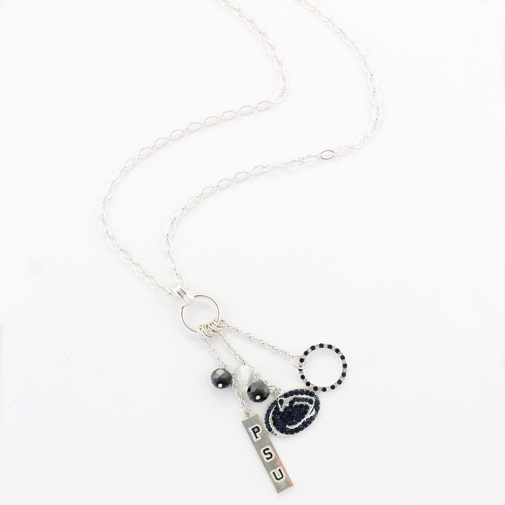 Penn State Cluster Necklace