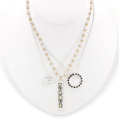 Purdue Trio Necklace Set