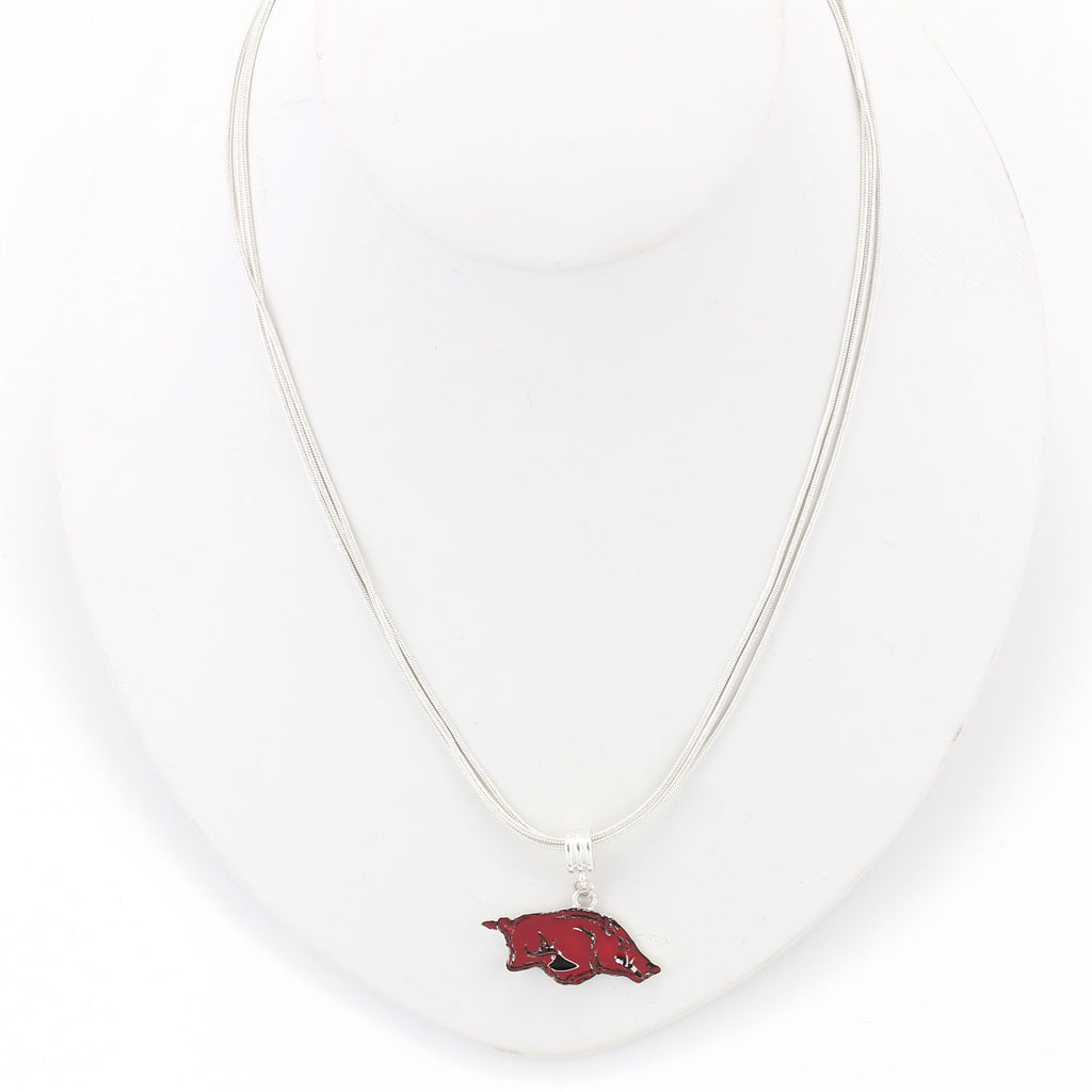 Arkansas Enamel Logo Necklace