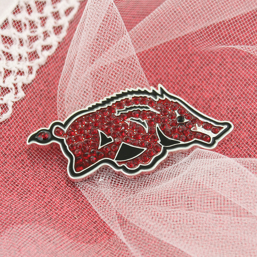 Arkansas Crystal Logo Pin