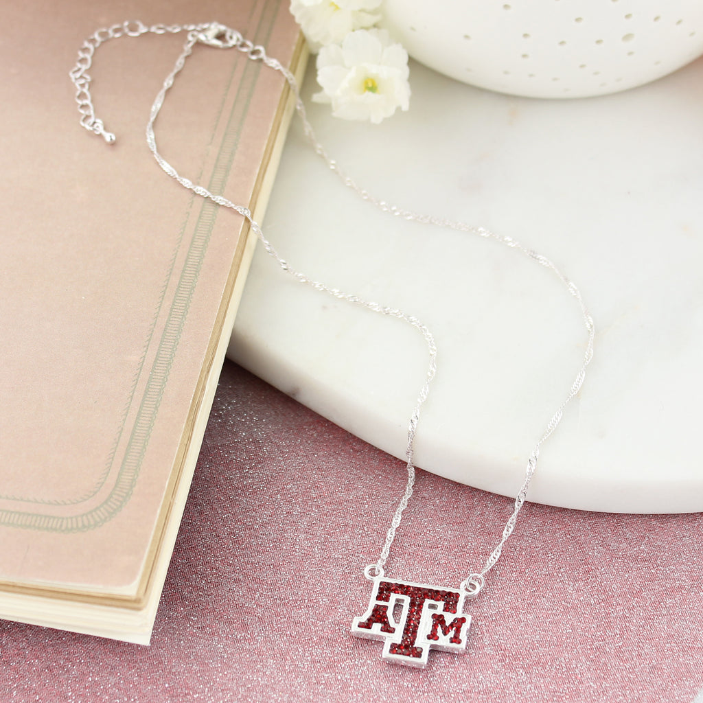 Texas A&M Crystal Logo Necklace