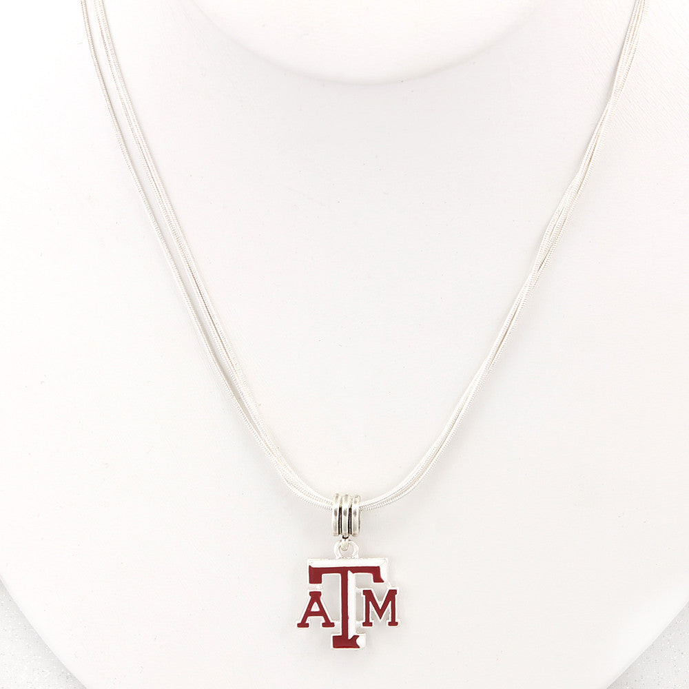 Texas A&M Enamel Logo Necklace