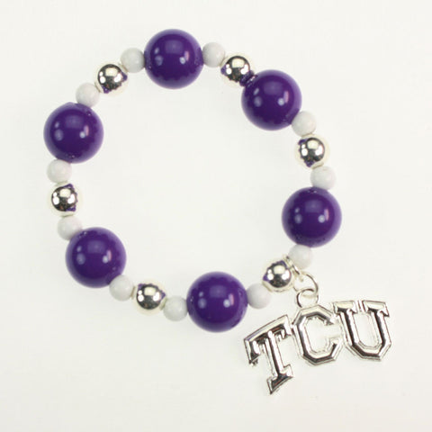 Seasons Jewelry TCU Logo Stretch Bracelet