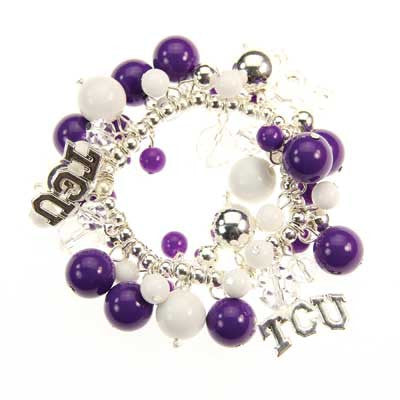 Seasons Jewelry TCU Logo Bauble Bracelet