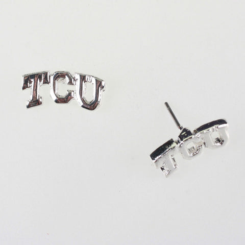 Seasons Jewelry TCU Logo Stud Earrings