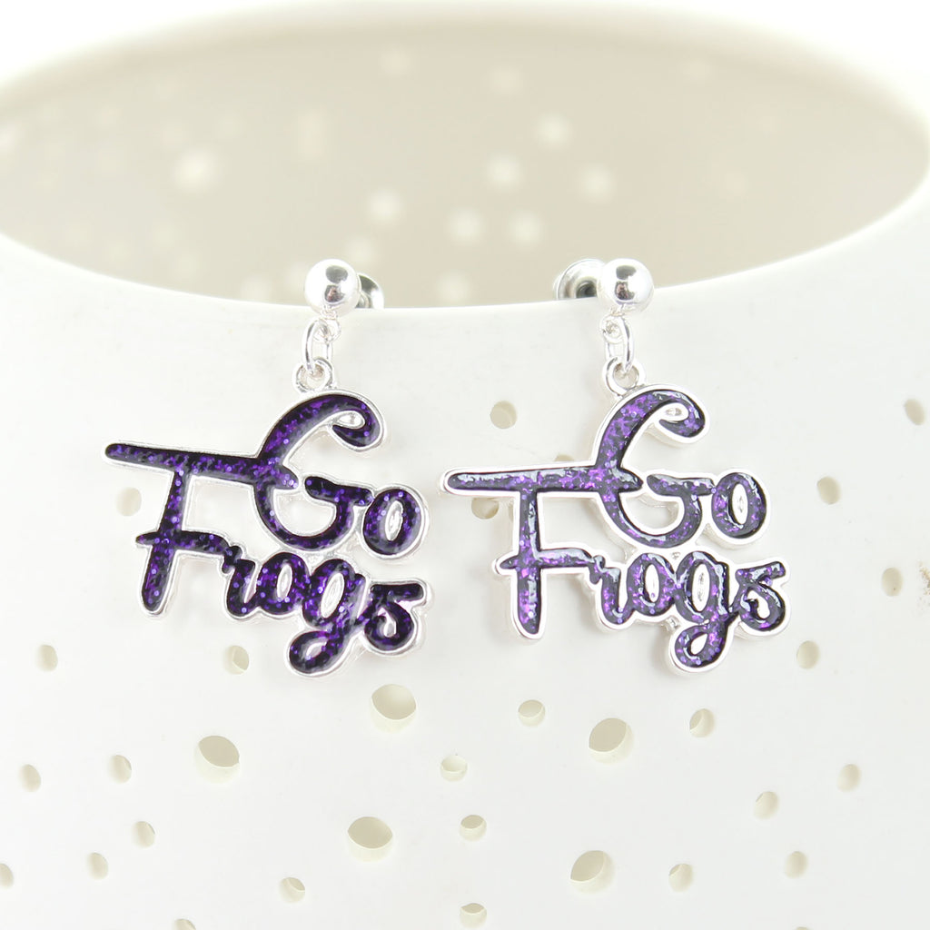 TCU Slogan Earrings