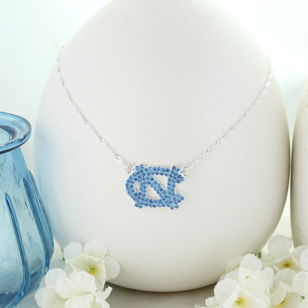 North Carolina Crystal Logo Necklace
