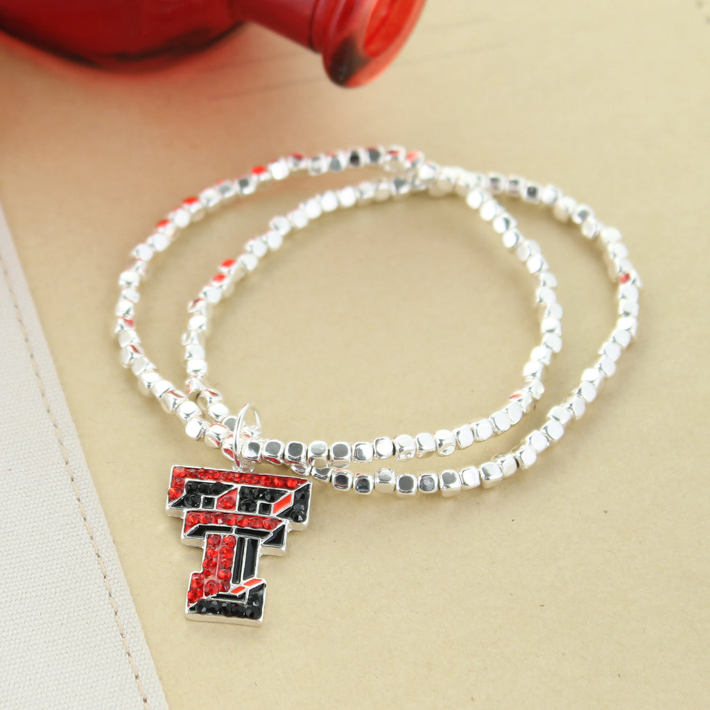 Texas Tech Crystal Logo Stretch Bracelet