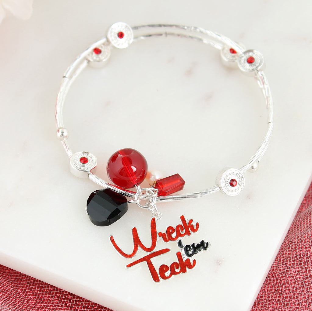 Texas Tech Slogan Bracelet