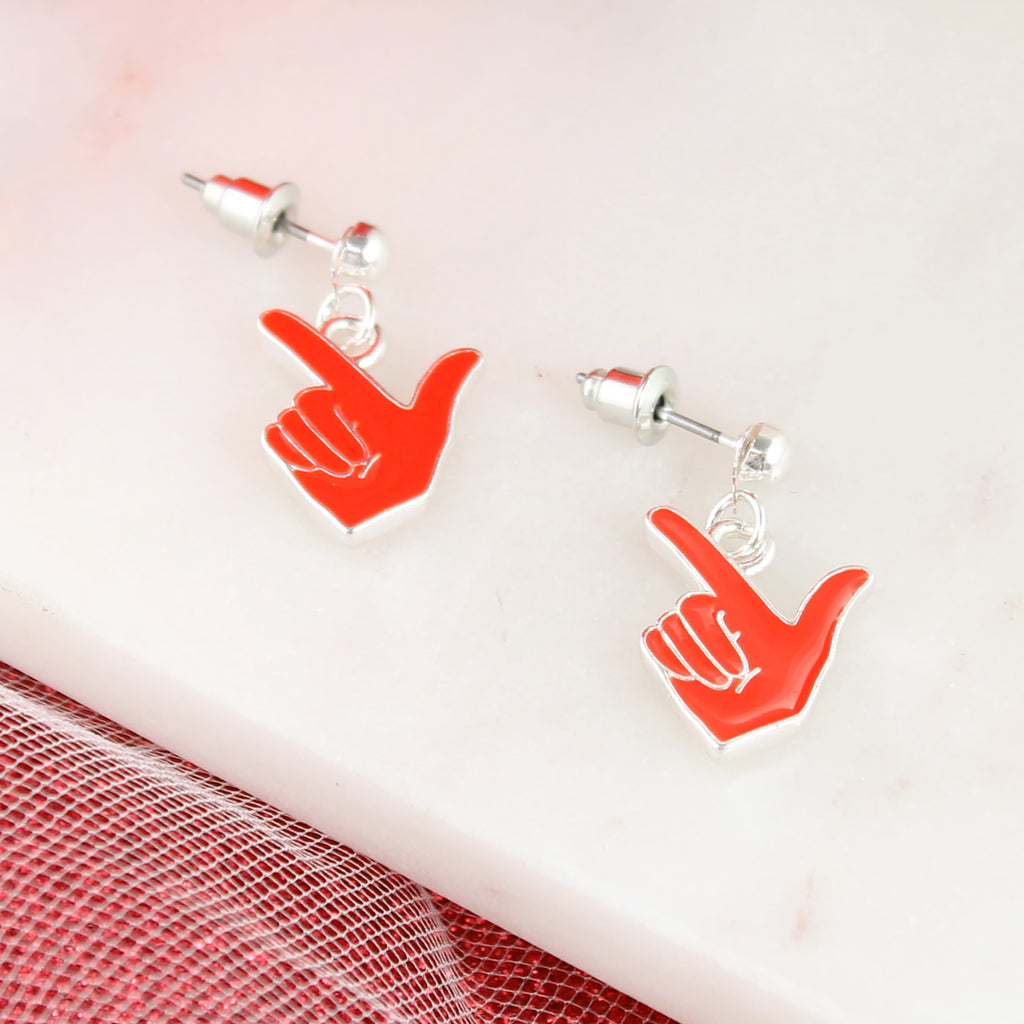 Texas Tech Enamel Logo Earrings