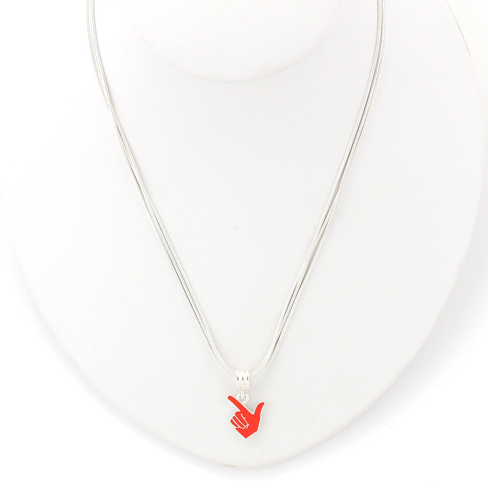 Texas Tech Enamel Logo Necklace