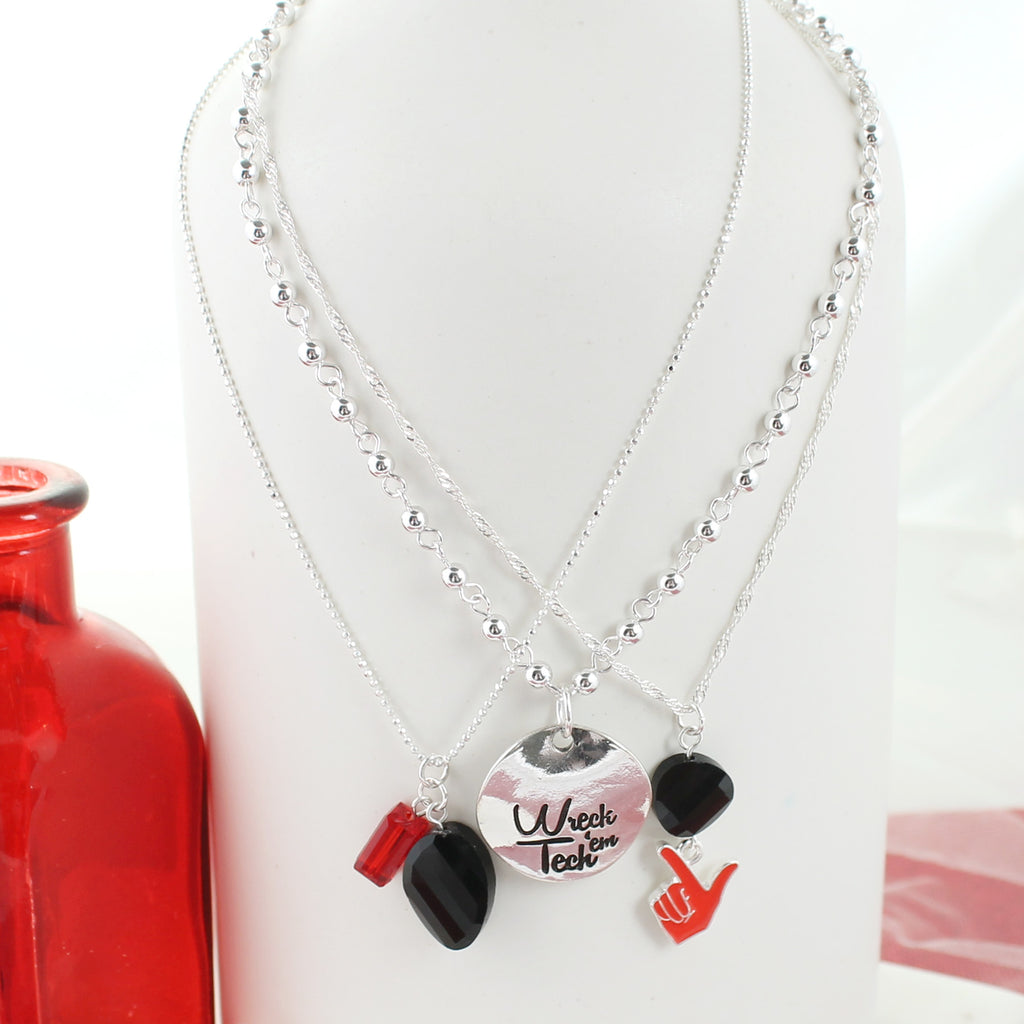Texas Tech Trio Necklace Set