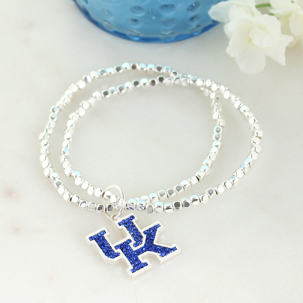 Kentucky Crystal Logo Stretch Bracelet