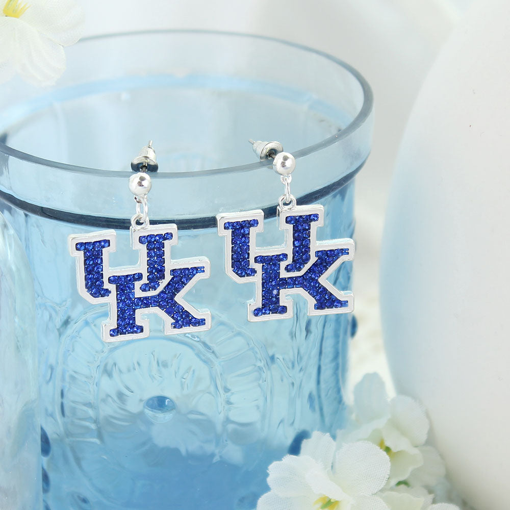 Kentucky Crystal Logo Earrings