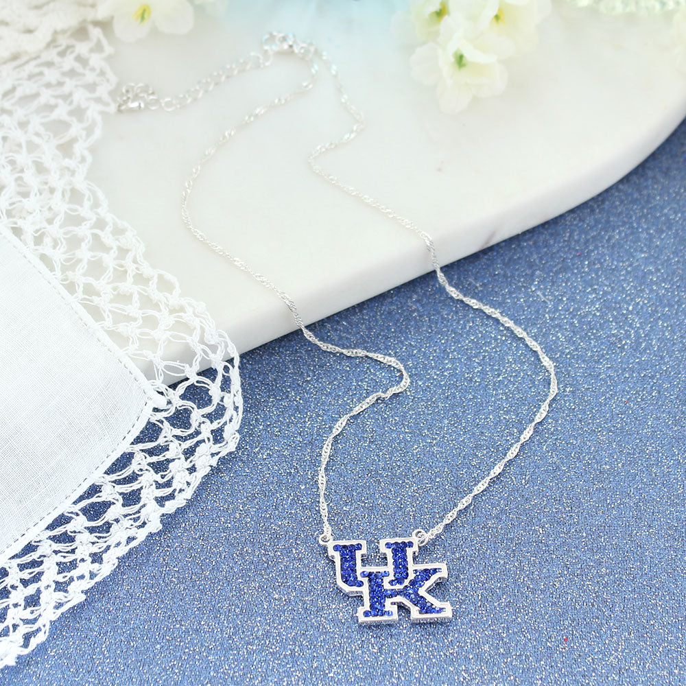 Kentucky Crystal Logo Necklace