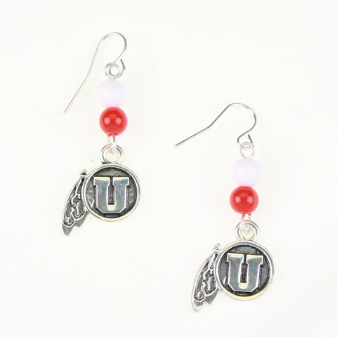 Utah Logo Bead Earrings