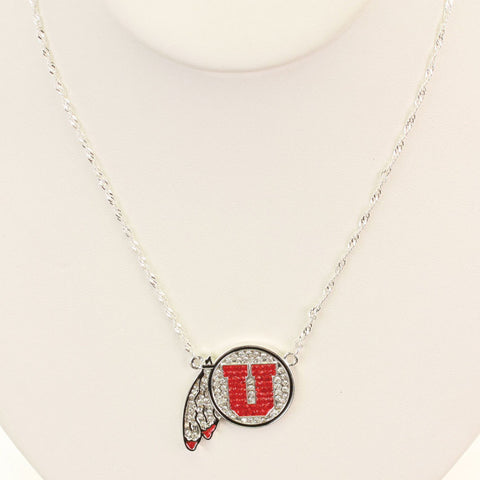 Seasons Jewelry Utah Crsytal Logo 17 inch Necklace