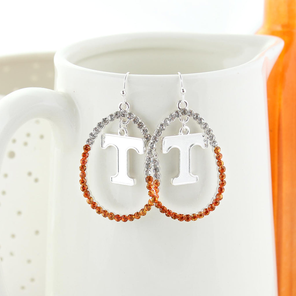 Tennessee Crystal Loop Earrings