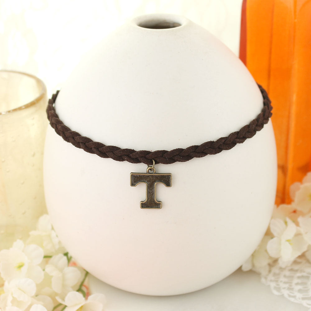 Tennessee Vintage Style Logo Braided Choker
