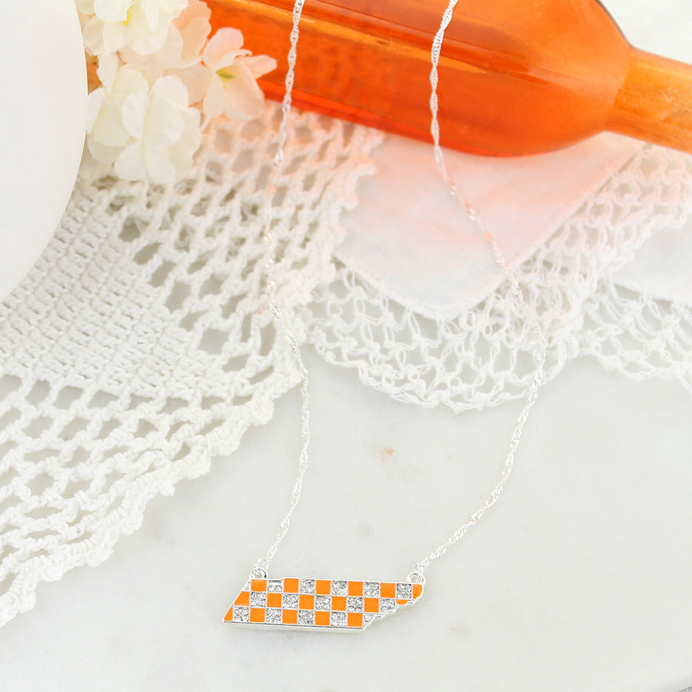 "16"" Tennessee Crystal Logo Necklace"