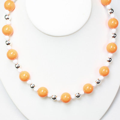 Seasons Jewelry Tennessee Beaded Stretch Necklace