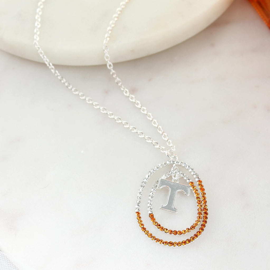 "34"" Tennessee Crystal Loop Necklace"