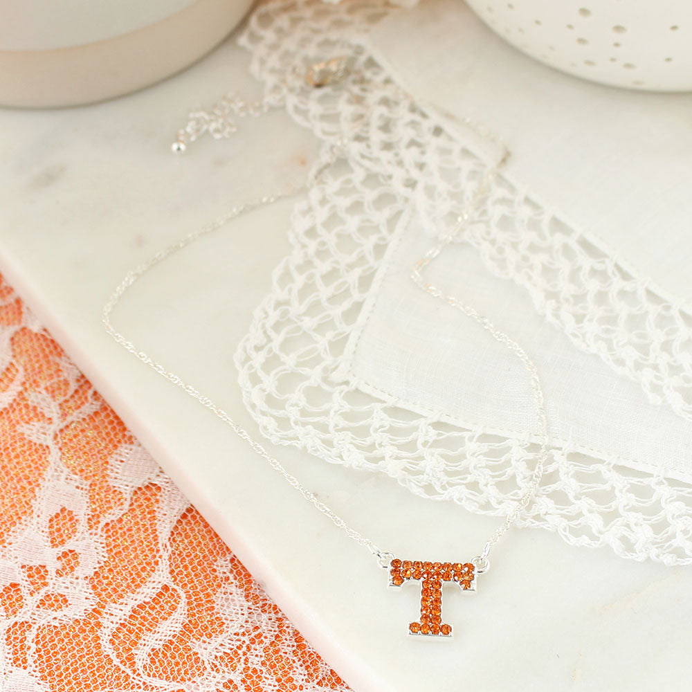 Tennessee Crystal Logo Necklace