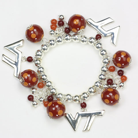 Virginia Tech Bauble Stretch Bracelet