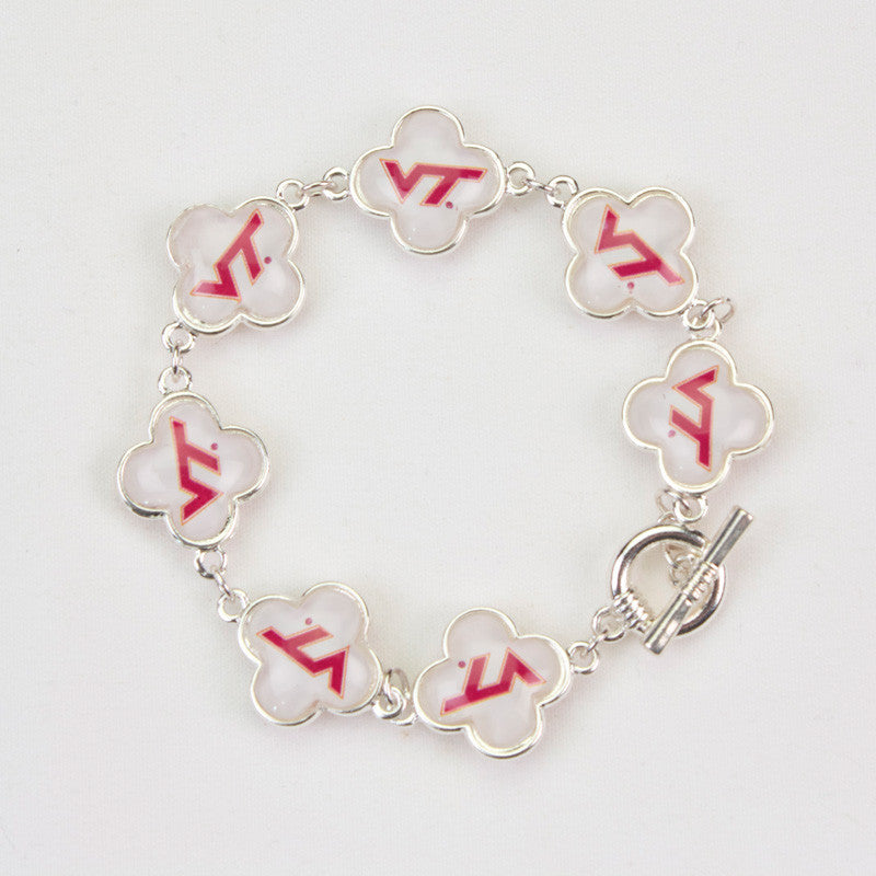 Seasons Jewelry Virginia Tech Quatrefoil Bracelet