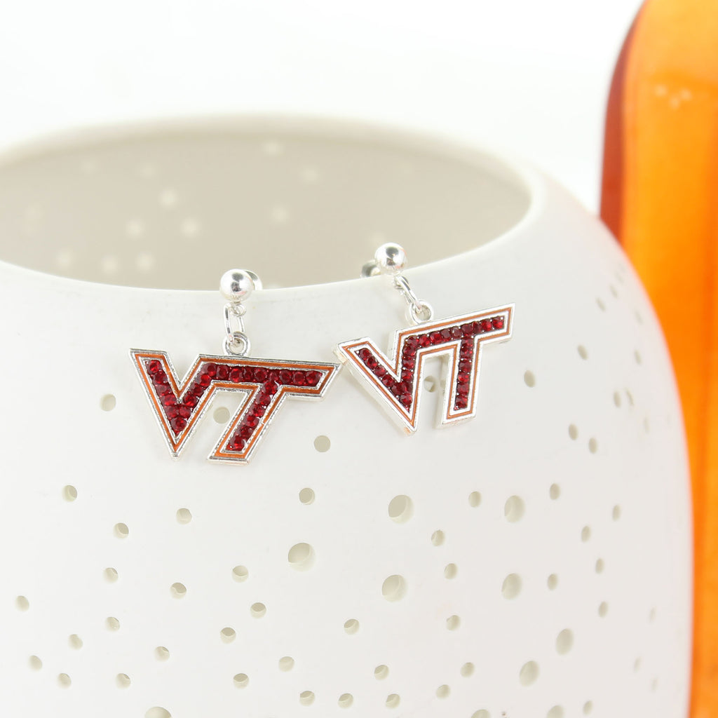 Virginia Tech Crystal Logo Earring